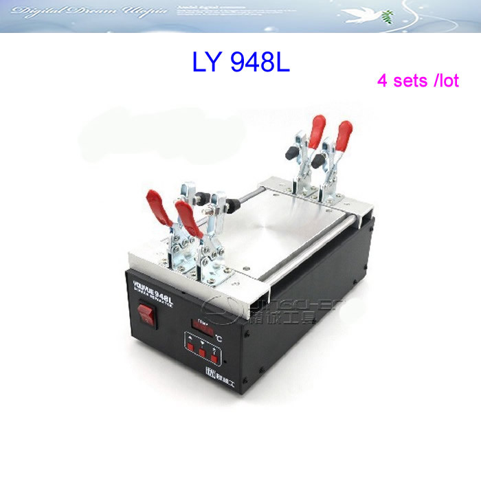 Russia Free shipping,no tax!! 4 pcs/lot LCD screen split machine 948L LCD separator for Iphone Samsung HTC LCD refurbishment free shipping screen repair machine kit ly 946d lcd separator for 5 inch mobile screen 12 in 1 separate machine