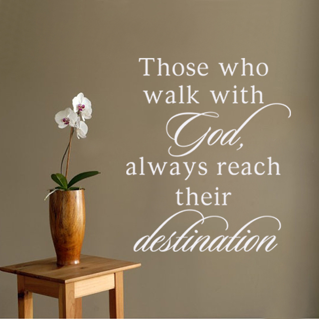 Scripture Wall Decal Vinyl Quote Religious Decor Those Who Walk With  God,Always Reach Their
