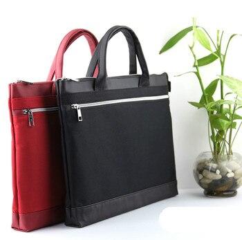 High-end portátil camadas duplas de moda homens e mulheres de negócios saco maleta portátil documento recheios saco do computador do escritório