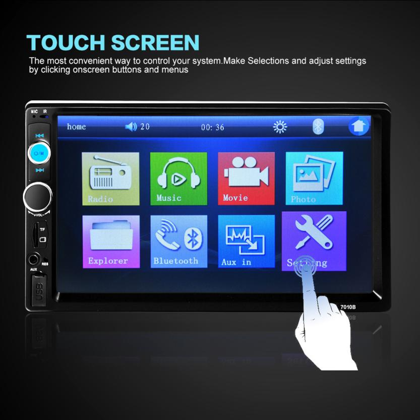 new arrival 2018 car mp3 player 7 39 39 hd bluetooth touch. Black Bedroom Furniture Sets. Home Design Ideas