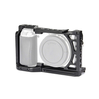 A6400 Camera Cage for Sony Alpha A6500 A6400 A6000 Camera Feature with 1/4 3/8 Thread Holes for Vlog DIY Option