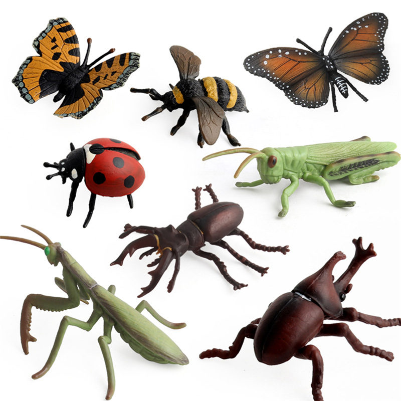 2018 New Animal Insect Toys Educational Resource High Simulation Reallistic Insects Plastic Toy Figures Insetos De Brinquedo