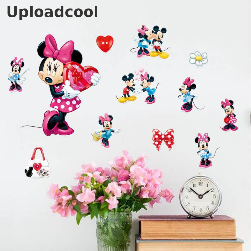 ... Uploadcool Mickey Font B Minnie B Font Lovely Animal Font B Wall B Font  Font B ...