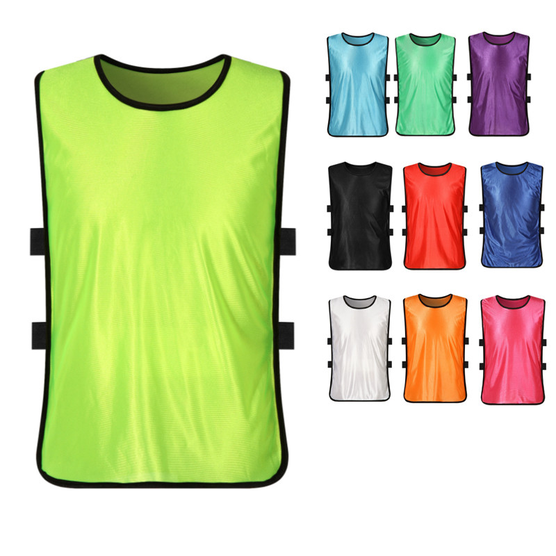 6 Pcs Children Kid Football Soccer Training Pinnies Jerseys Train Bib Vest For Team Sports 12Colors