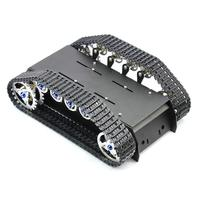 Robot Tank Chassis Handmade DIY Kit Light Shock Absorbed Damping Balance Tank Robot Chassis for Arduino