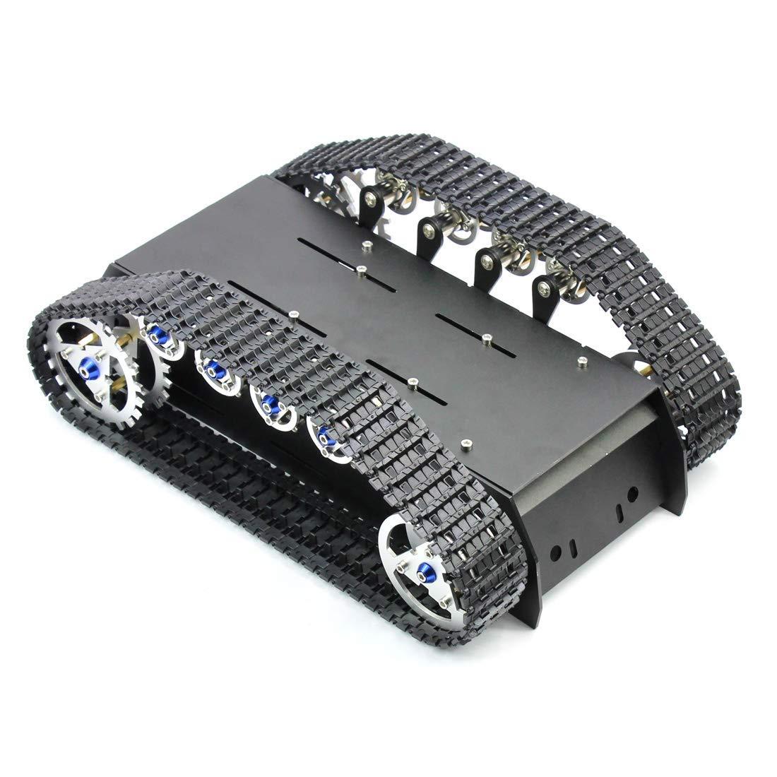 Châssis de réservoir Robot fait à la main kit de bricolage choc léger absorbé amortissement réservoir Robot châssis pour Arduino