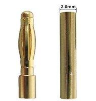 2mm Gold Bullet Banana Connector Plug For ESC Battery Motor 100 Pairs