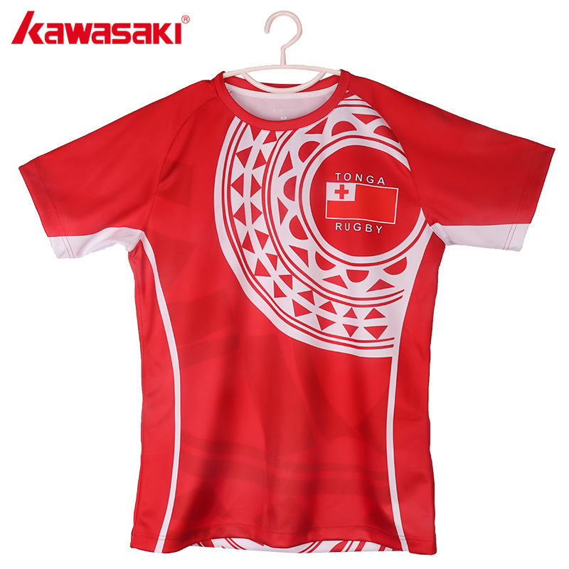 Kawasaki Polyester Breathable Men's Rugby Shirt Custom Male Rugby Jerseys Quick Dry C RJ0003