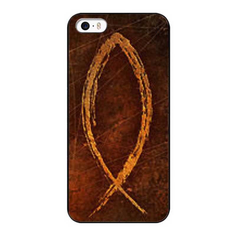 Christian Fish Symbol New Design Case For iPhone 5 5S UV Hard Back Cover