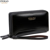 VICUNA POLO High Quality Leather Men S Clutch Bag Nylon Waterproof Handbags Fashion Large Capacity Purse