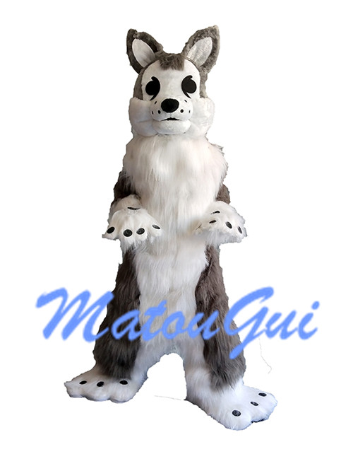 Costume de mascotte chien Husky renard Cosplay Halloween robe de fête fantaisie