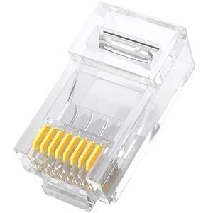 Image 1 - RJ45 connecteur Cat 6 Plug 8P8C modulaire réseau Ethernet LAN câble Cat 6 tête prise 20 pièces 50pcs 100 pièces RJ45 Cat6 sertissage connecteur