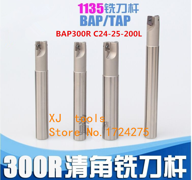 Milling Cutter BAP300R C24-25-200 Bore Indexable Shoulder End Mill Arbor,Mill Cutting Tools,Insert of carbide inserts APMT1135Milling Cutter BAP300R C24-25-200 Bore Indexable Shoulder End Mill Arbor,Mill Cutting Tools,Insert of carbide inserts APMT1135