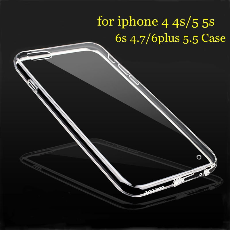 For iPhone 6 6s soft clear cover 0.5mm super thin TPU silicon gel Phone Case for iPhone 6 plus thin transparent cover bags