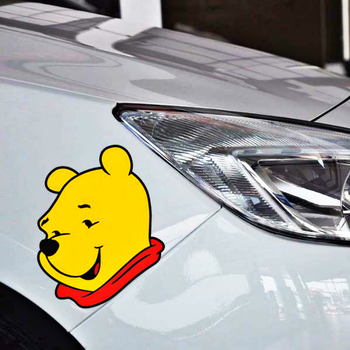 Aliauto Cartoon Cute Bear Car Sticker Decal Decoration For GMC ACADIA CANYON SAVANA SIERRA TERRAIN YUKON Ford Focus Chevrolet image