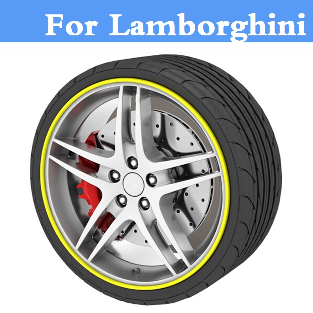 8M Car Rim Sticker Wheel Hub Protector Motorcycle Decal For Lamborghini Aventador Gallardo Murcielago Reventon Sesto Elemento