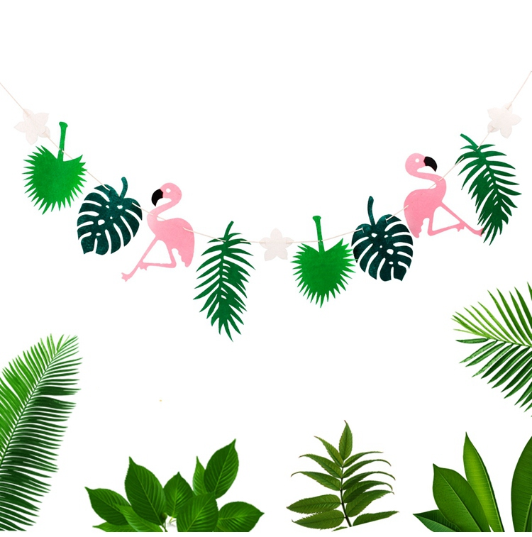 QIFU Flamingo Decoration Tropical Summer Beach Birthday Party Decor Events Luau Flamingo Hawaii Hawaiian Party Supplies Hibiscus 19