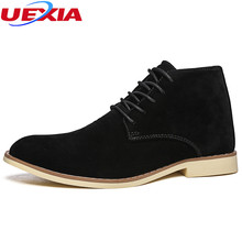 UEXIA Casual High Top Ankle Boots Formal Men Shoes Flats Fashion Work Dress Business Party Wedding Shoes Men Chelsea Botas Homme