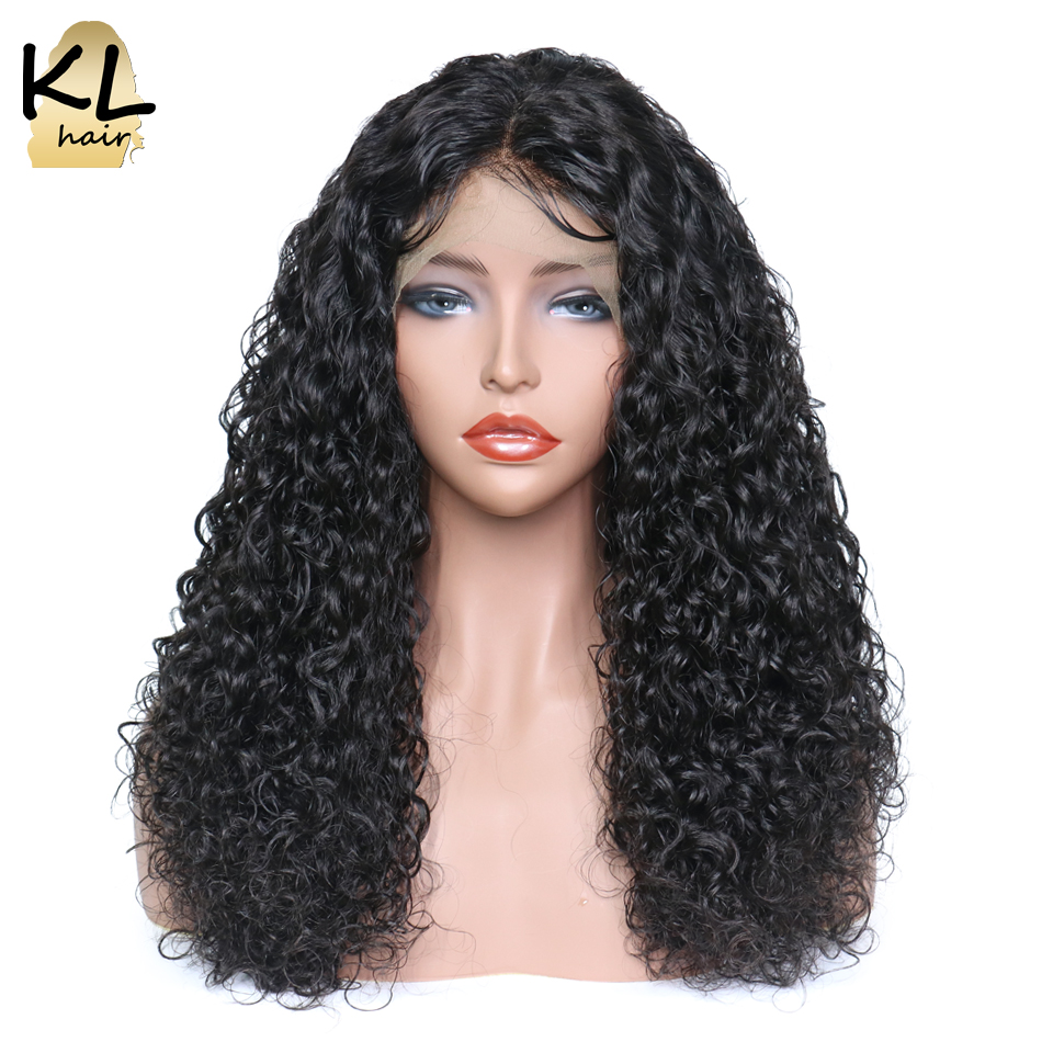 Curly Lace Front Human Hair Wigs For Black Women 250 Density Natural Color Brazilian Remy Hair