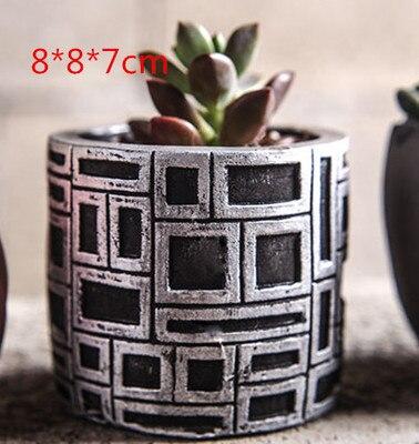 Silikagel Silikonová forma Sukulentní rostliny Mini květináče retro palcová nádoba 3D forma na svíčky Betonová forma Váza na formy