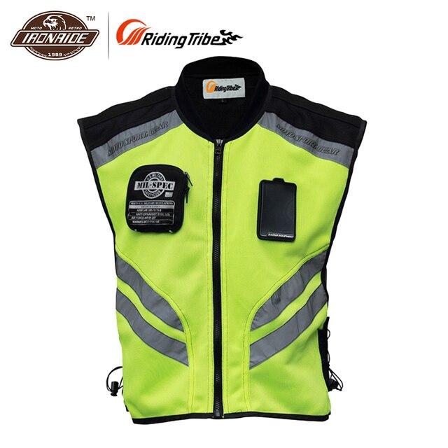 Reiten Tribe Reflektierende Motorrad Weste Motorrad Safty Kleidung Moto Warnung Hohe Sichtbarkeit Jacke Weste Team Uniform JK-22