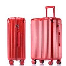 Trolley luggage fashion mirror surface universal wheels pc travel bag female 20 luggage male silver,high quality tsg lock bags
