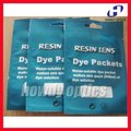 Solución de tintado de lentes paquetes dye morir material de teñido 10 bolsa/caja varios colores para las opciones