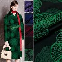 143 100cm Good Brocade Fabric French Design Fashion Jacquard Brocade Fabric Sewing Material DIY Women Dress