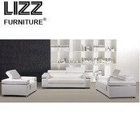 Белый Loveseat современная мебель для дома 1 + 2 + 3 Кожаный Диван Классический Королевский китайский современный Гостиная мебель диван