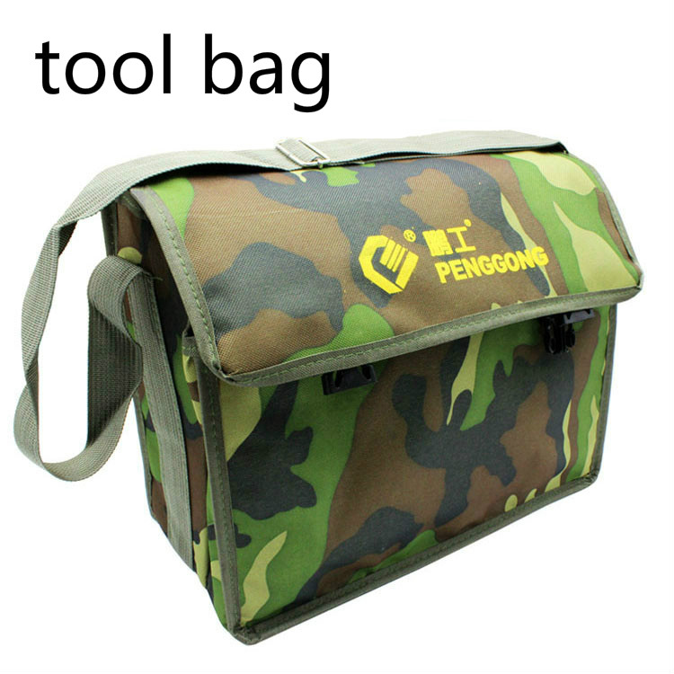 Camouflage Canvas tool Bag Shoulder Satchel Electrician Repair bag Kits Electrician Waist Pocket Tool