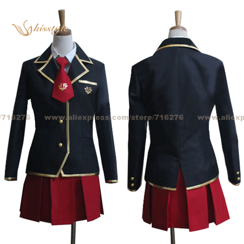 Kisstyle Fashion Baka and Test Mizuki Himeji Fumizuki Academy School Girl Uniform Cosplay font b Clothing