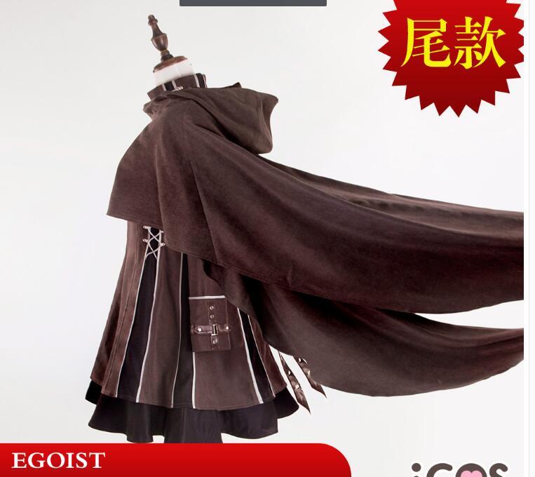 Egoist coupable couronne héros poème du destin Yuzuriha Inori cape jupe robe femme robes chaussettes cape evil queen