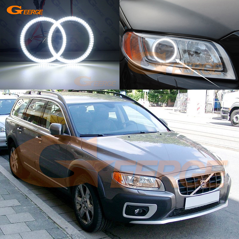 цена на For Volvo XC70 2008 2009 2010 2011 2012 2013 2014 2015 Excellent Angel Eyes Ultra bright illumination smd led Angel Eyes kit DRL