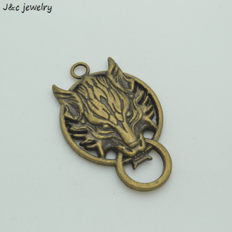 3 pcs Metal Charms Antique bronze Plated Vintage alloy Pendant  Dragon Jewelry Findings fit Handcraft fashion 34111D thumbnail