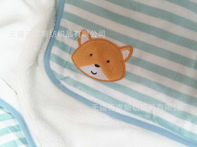 Fashion good quality Baby kids blanket Cartoon fox striped Soft Bedding Baby Nap blanket quilt Air conditioning Knee swaddling