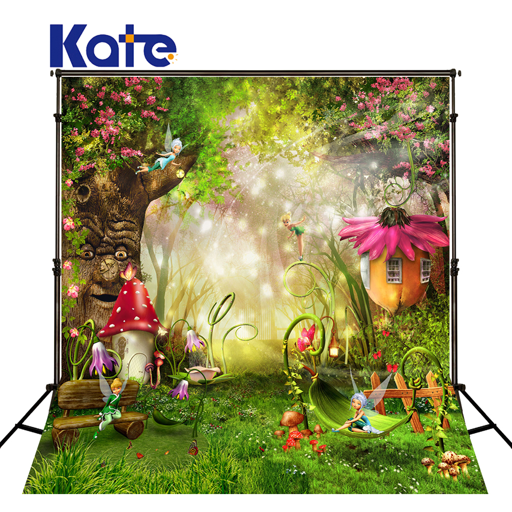 5X7FT Kate Fairy Tale Forest Photography Backdrops Children Backgrounds Photo Studio Mushrooms Elves Flowers Photo Background photo background 5x7ft fairy tale mushroom house photography backdrop studio props for children