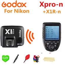 Godox Xpro-N 2.4 Wireless X-System i-TTL HSS Trigger Transmitter + X1R-N Receiver for For Nikon D3200 D3300 D5300 D7200 D750(China)