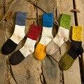 Novo projeto de algodão de alta qualidade outono inverno grossa de malha térmica pequenos pontos coloridos das senhoras mulheres marca harajuku meias boot