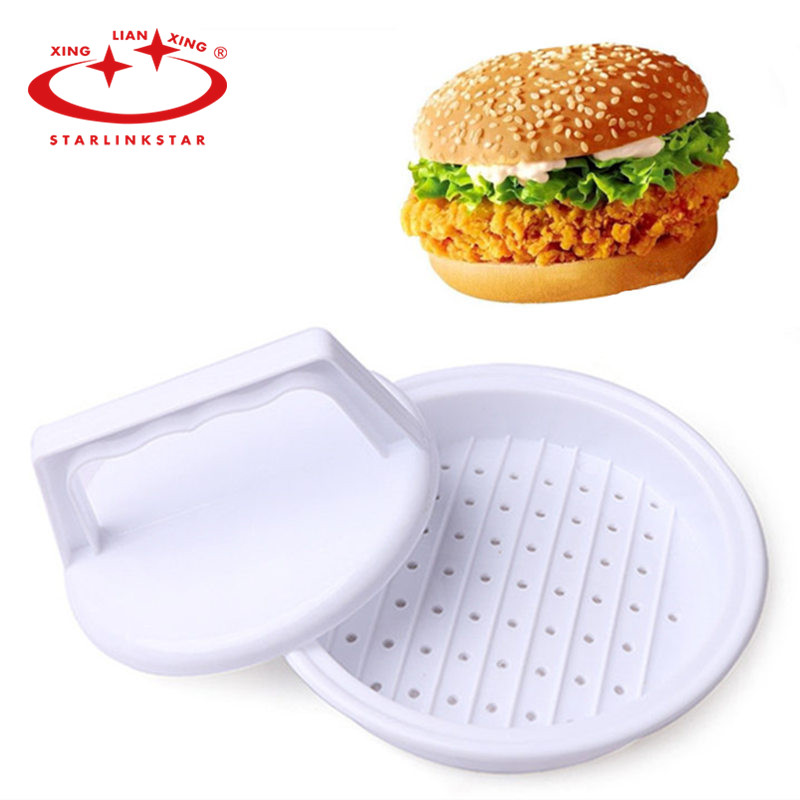 Plastic single hamburger press