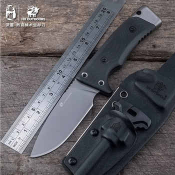 HX OUTDOORS good Straight Blade Knife anti-skid handle Knifes D2 stainless steel EDC tools Survival Hunting Camping Outdoor tool - DISCOUNT ITEM  50% OFF All Category