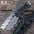 HX al aire libre buena cuchilla recta cuchillo antideslizante cuchillos D2 Acero inoxidable herramientas EDC supervivencia caza Camping al aire libre herramienta