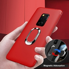 Metal Ring Stand Phone Case Cover With Magnetic Adsorption 360 Rotation Holder TPU for Huawei P30 PRO NOVA 4E