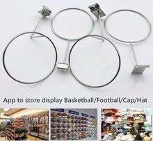 Hot promotion Basketball rack Football Holder Wall Mount Ball Shelf fashion metal cap hat wig dispaly stand 2pcs/lot