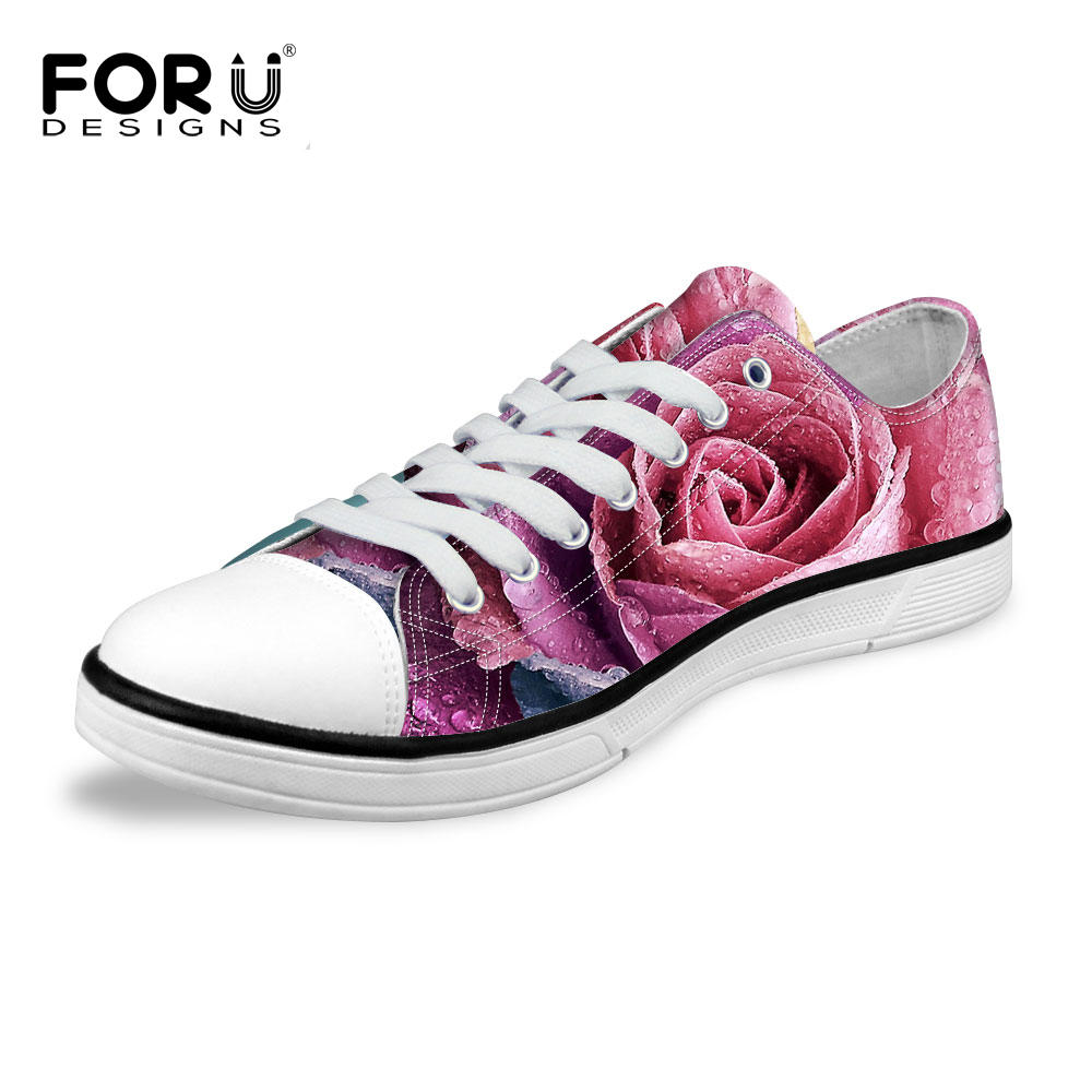 ФОТО Fashion women flats lace up breathable canvas shoes loafers platform round toe sweet flower rose mujer zapatillas ladies shoes