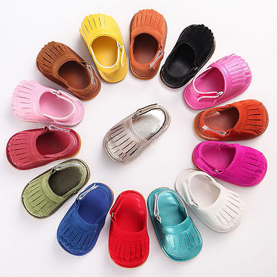2017 Summer Baby Tassel Soft Sole Leather Shoes Infant Girl Fringe 18M ...
