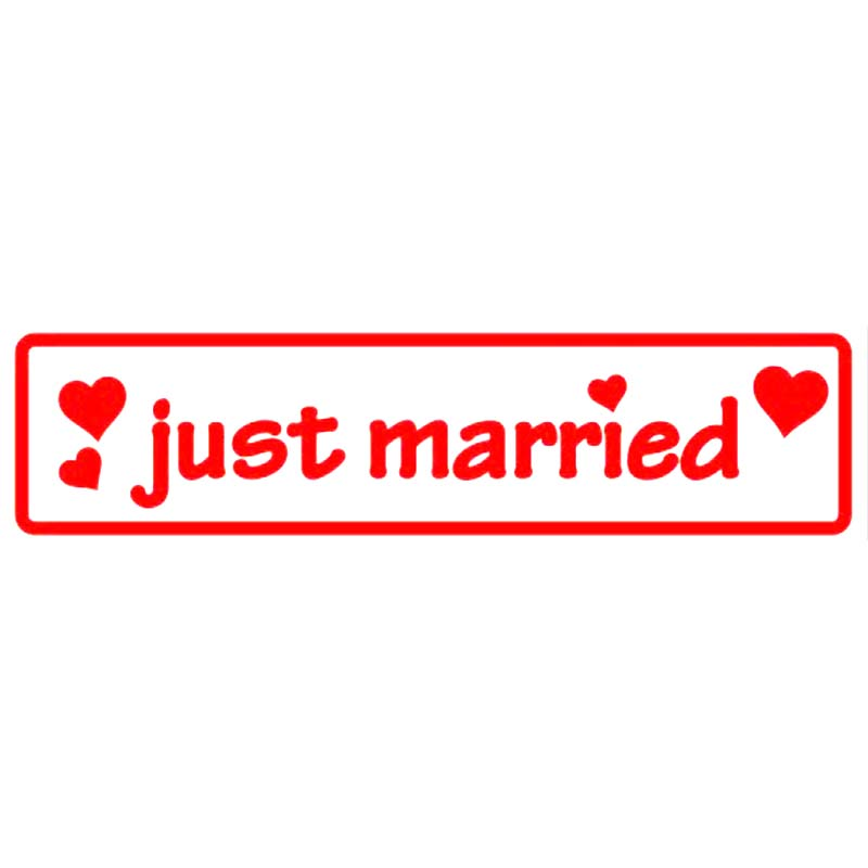 Just Married Cars and other metal glass surfaces Fashion Personality Vinyl Decals