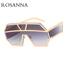 ROSANNA 2019 New One Piece Lens Sunglasses Women Brand Desig