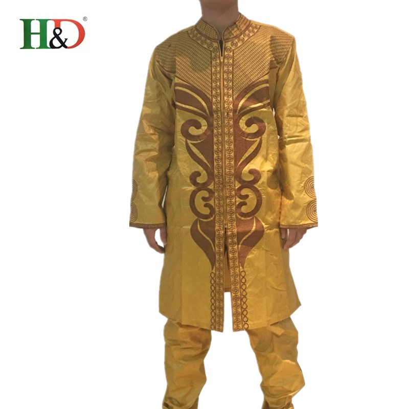 (Free Shipping)Africa's richest man costume Bazin embroidery design Dashiki style 100% cotton Bazin PH47