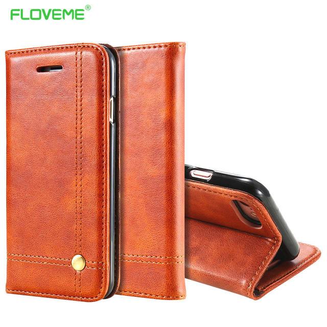 bd57a6168825 FLOVEME Deluxe Noble Men Leather Case For iPhone 6 Plus 6s Wallet ...