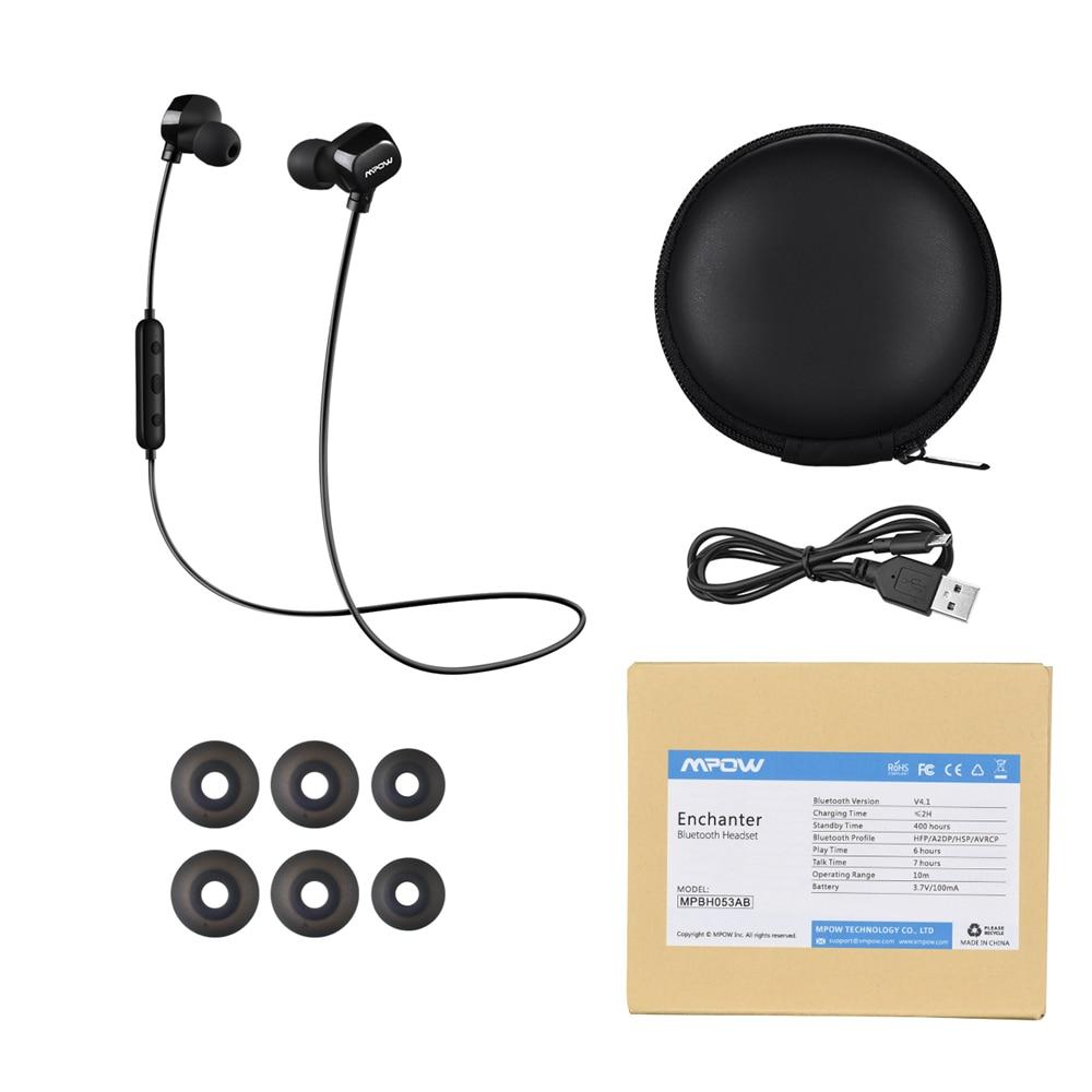 Mpow 100% Geniune Bluetooth V4.1 Headphones Wireless Earphones CVC 6.0 Noise Reduction Sports Sweatproof Earbuds for iPhone etc